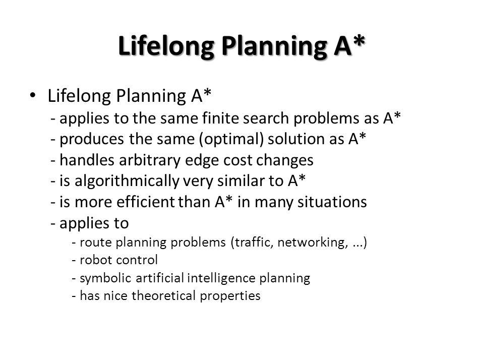 Lifelong Planning A* Lifelong Planning A*