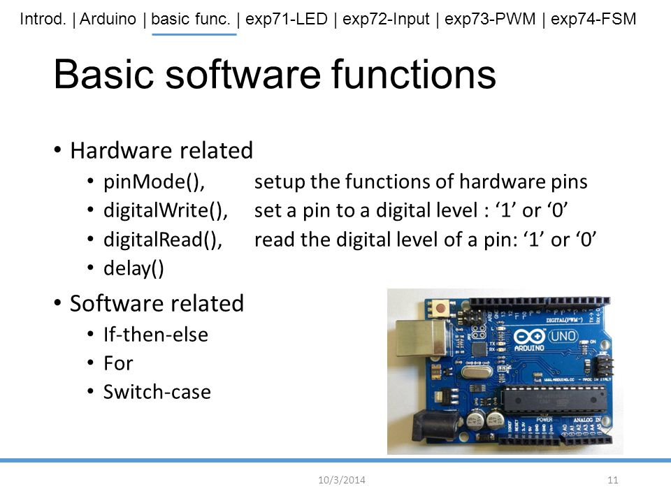 Basic software functions