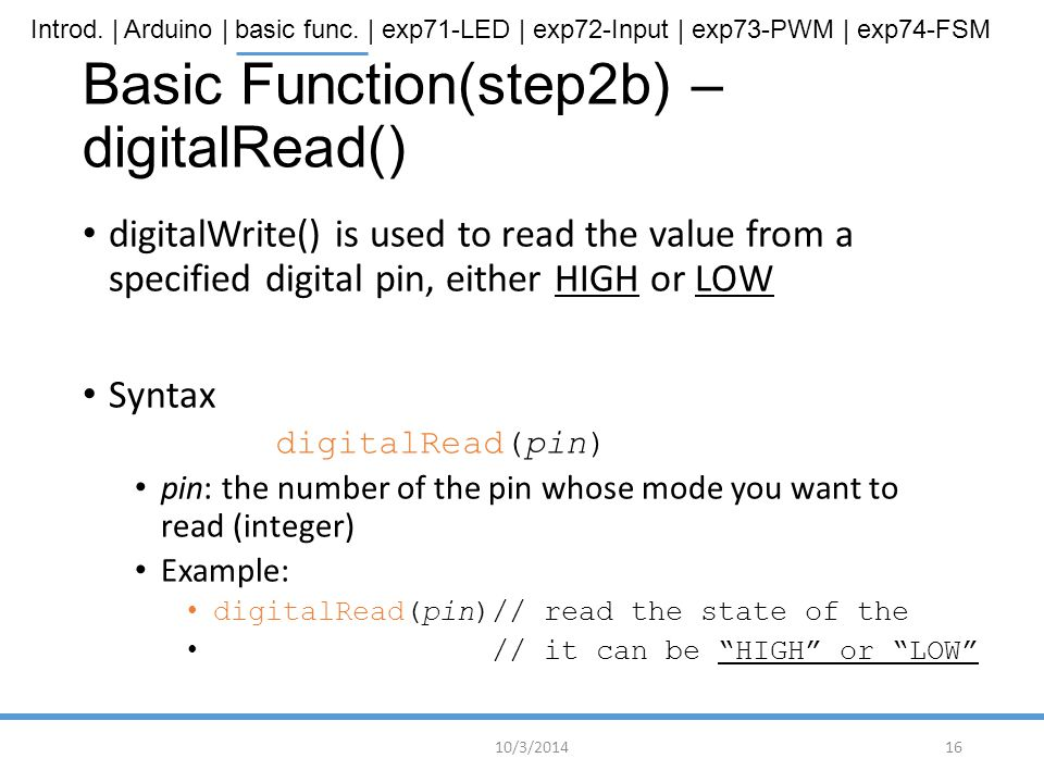 Basic Function(step2b) – digitalRead()