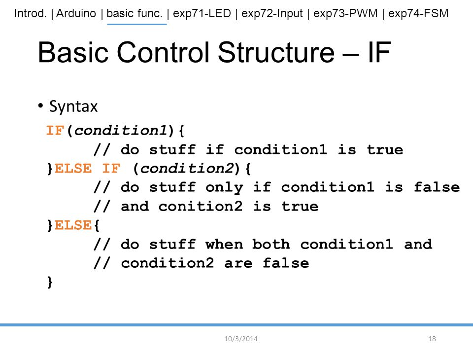 Basic Control Structure – IF