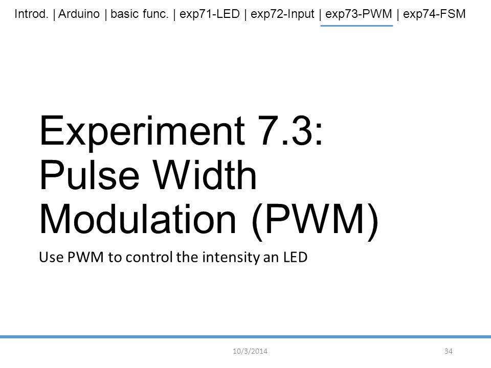 Experiment 7.3: Pulse Width Modulation (PWM)