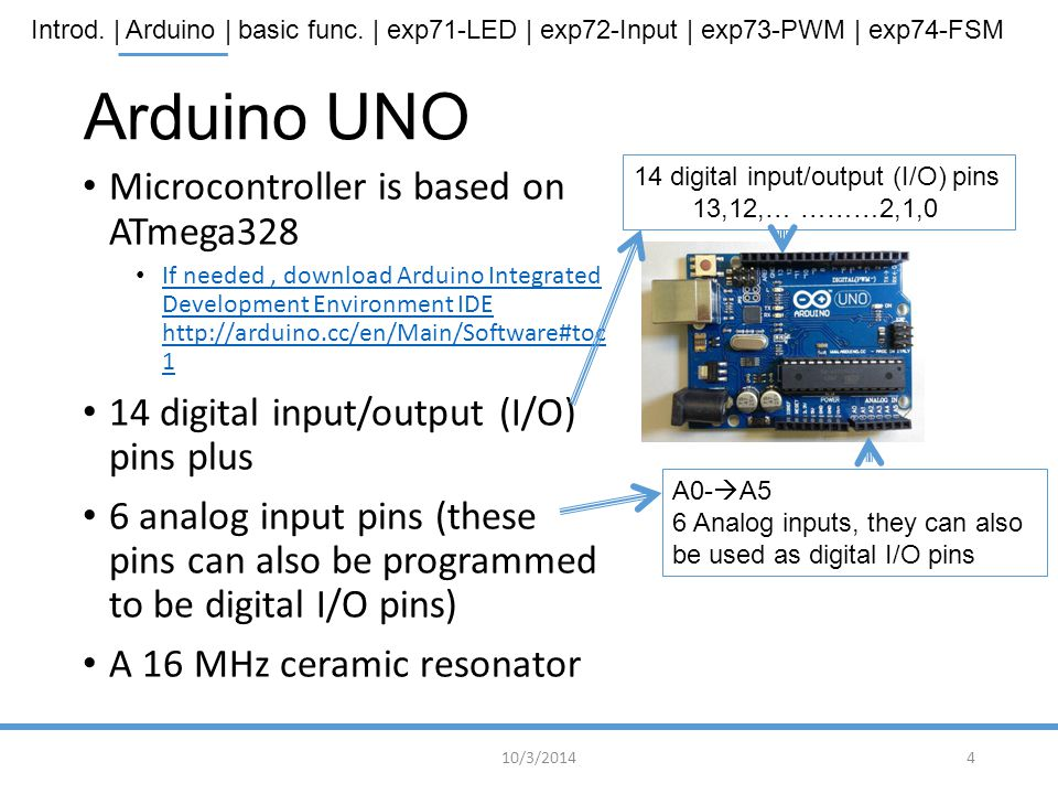 Arduino UNO Microcontroller is based on ATmega328