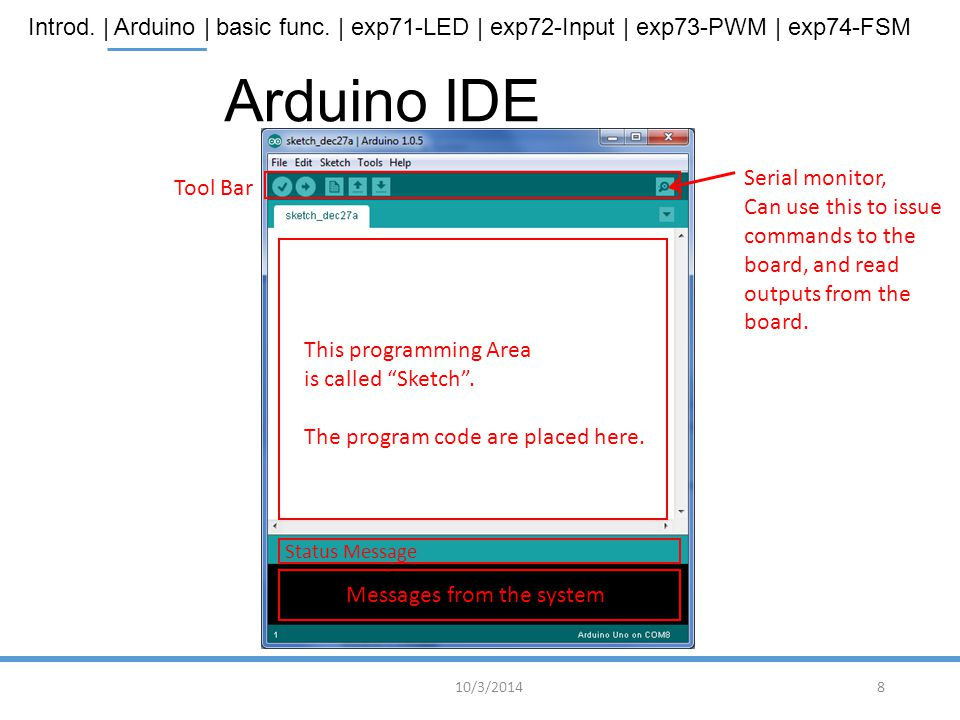 Arduino IDE Serial monitor, Tool Bar