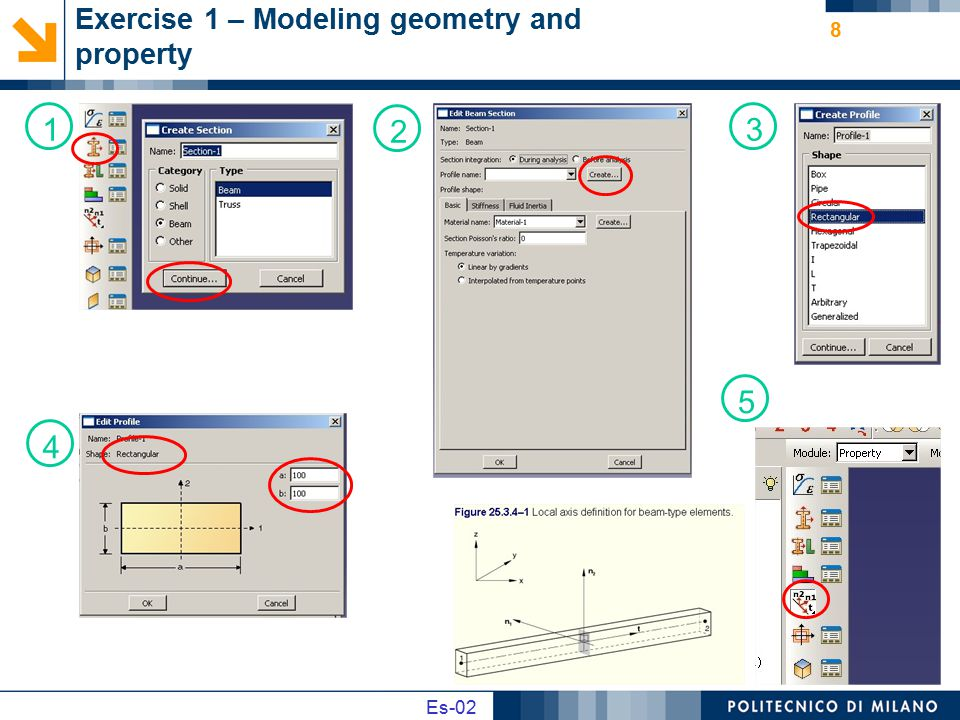 Exercise 1 – Modeling geometry and property