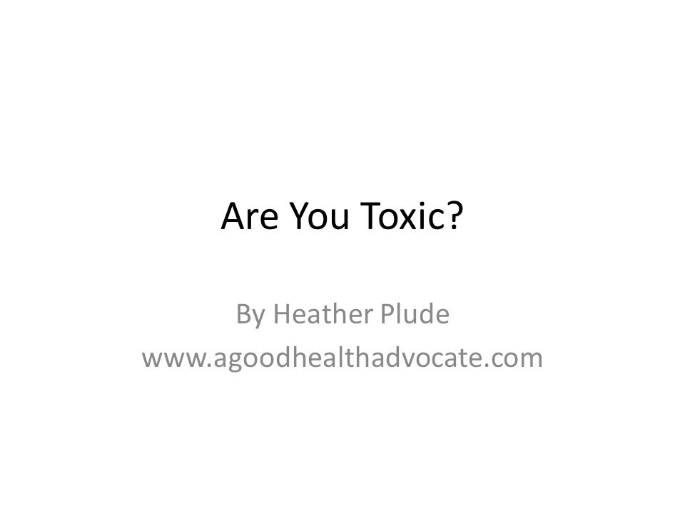 By Heather Plude www.agoodhealthadvocate.com