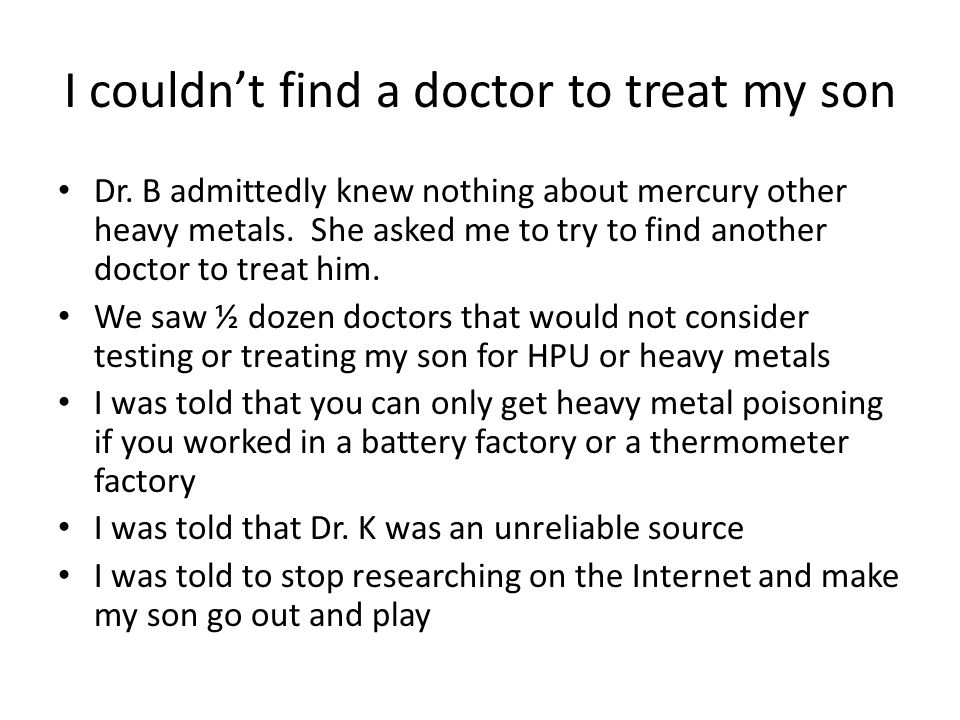 I couldn't find a doctor to treat my son