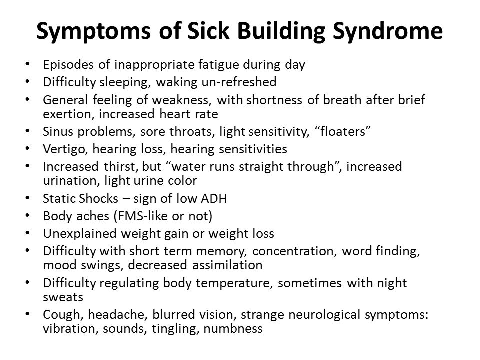 Symptoms of Sick Building Syndrome