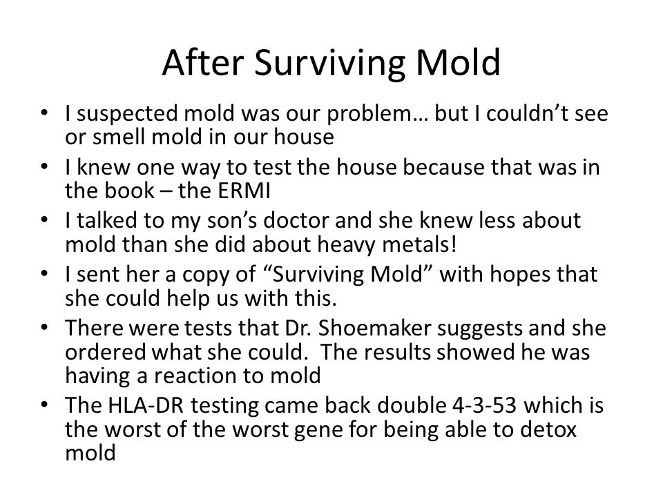 After Surviving Mold I suspected mold was our problem… but I couldn't see or smell mold in our house.