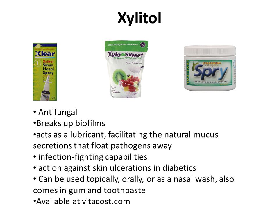 Xylitol Antifungal Breaks up biofilms
