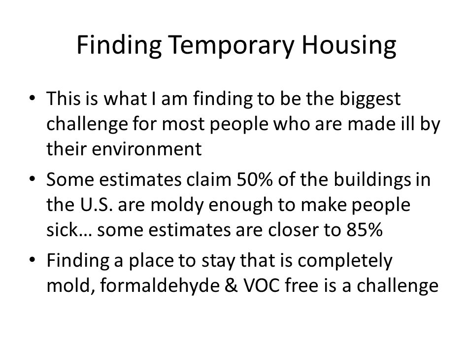 Finding Temporary Housing