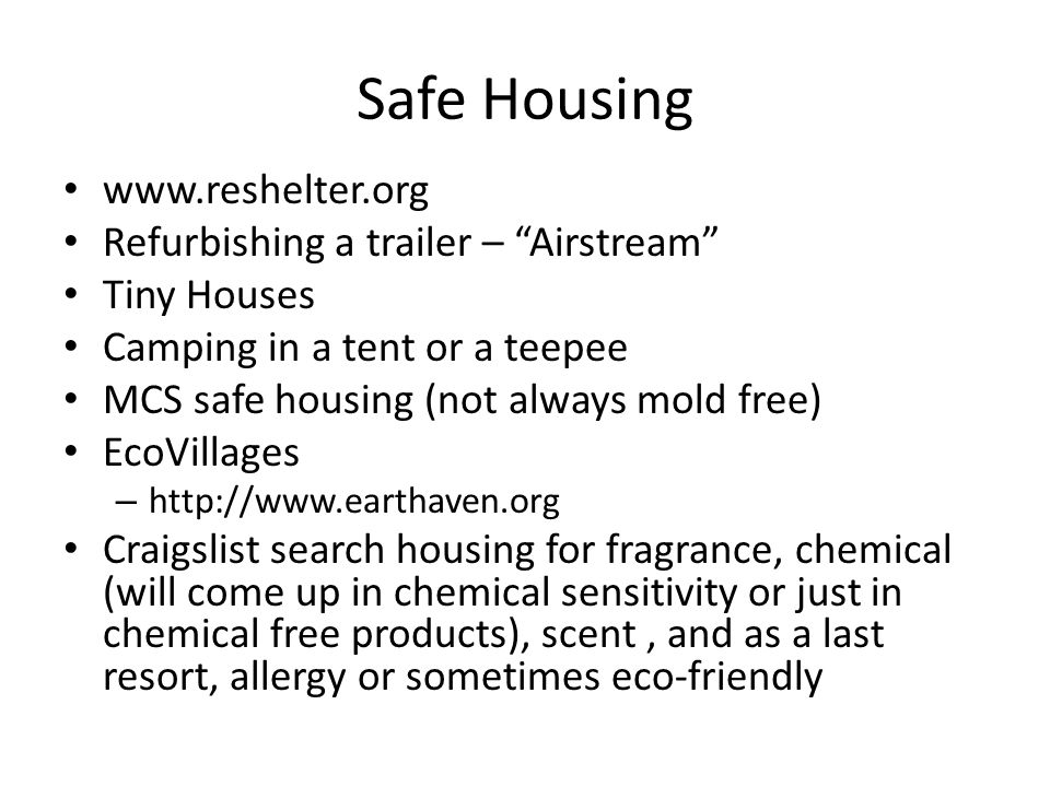 Safe Housing www.reshelter.org Refurbishing a trailer – Airstream