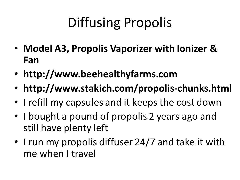 Diffusing Propolis Model A3, Propolis Vaporizer with Ionizer & Fan