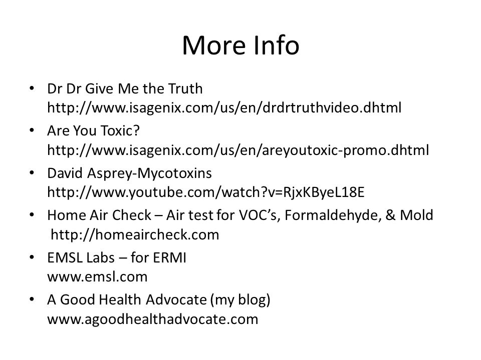 More Info Dr Dr Give Me the Truth http://www.isagenix.com/us/en/drdrtruthvideo.dhtml.