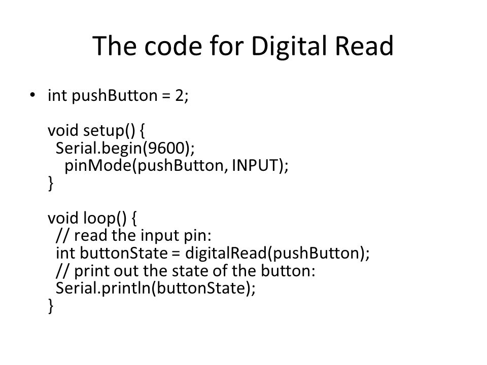 The code for Digital Read