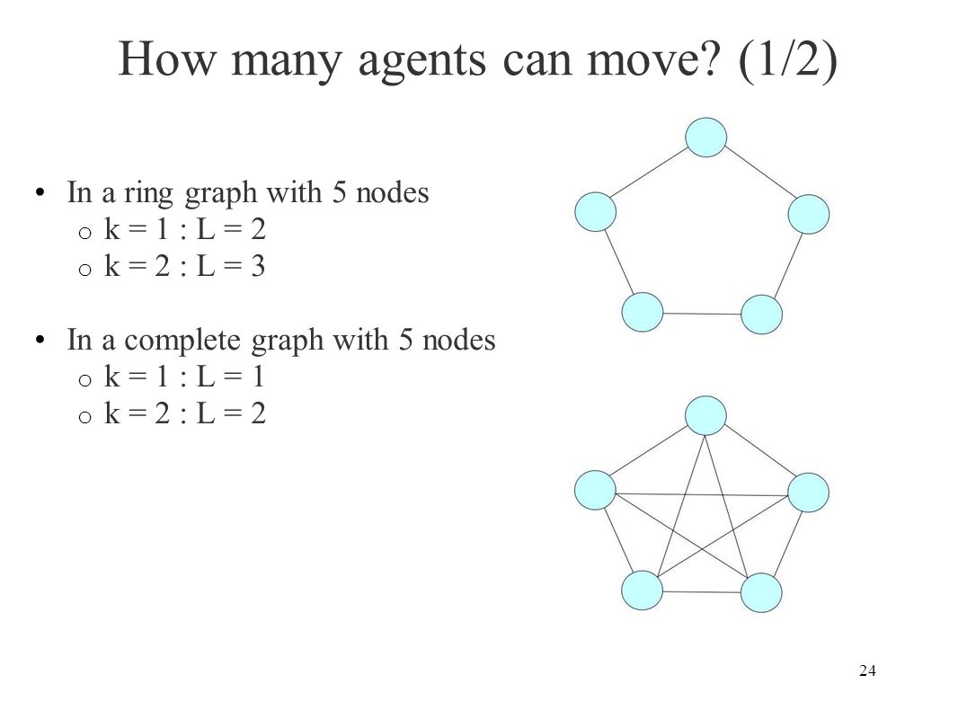 How many agents can move (1/2)
