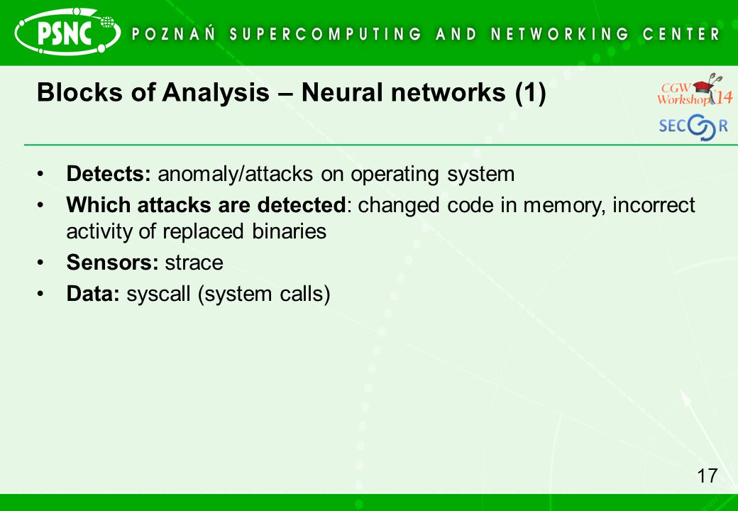 Blocks of Analysis – Neural networks (1)