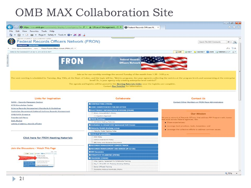 OMB MAX Collaboration Site