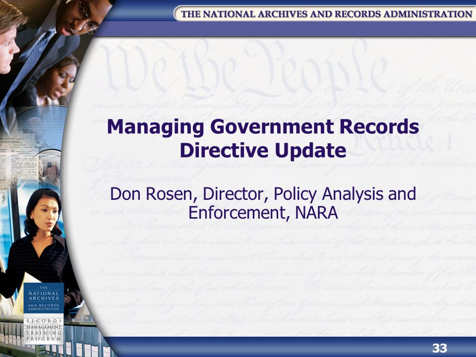 Managing Government Records Directive Update