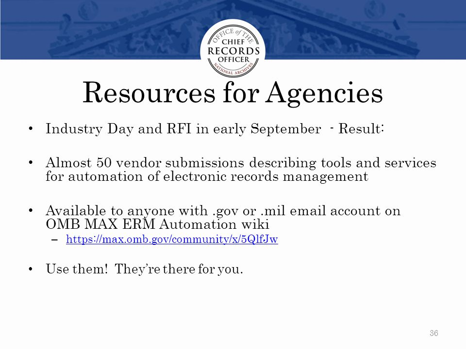 Resources for Agencies