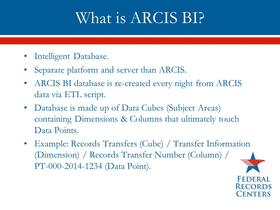 What is ARCIS BI Intelligent Database.