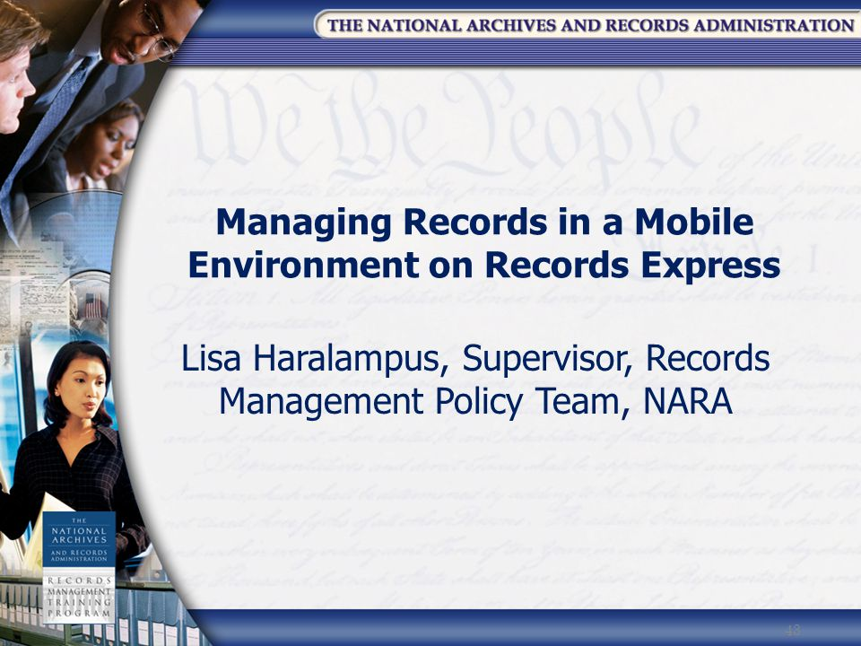 Managing Records in a Mobile Environment on Records Express