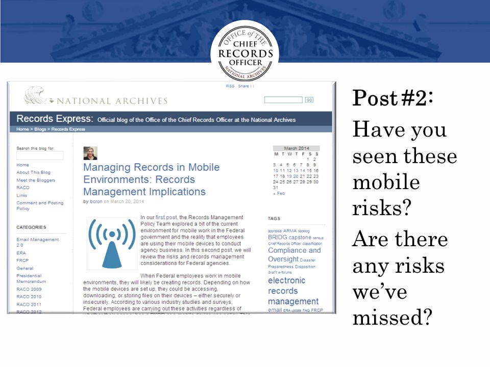 Post #2: Have you seen these mobile risks