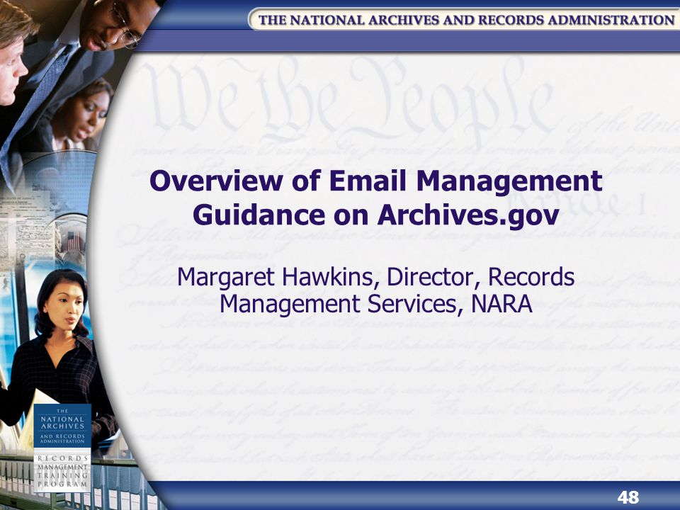Overview of Email Management Guidance on Archives.gov