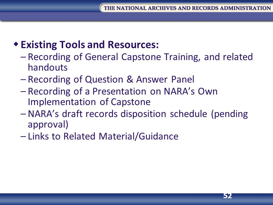 Existing Tools and Resources: