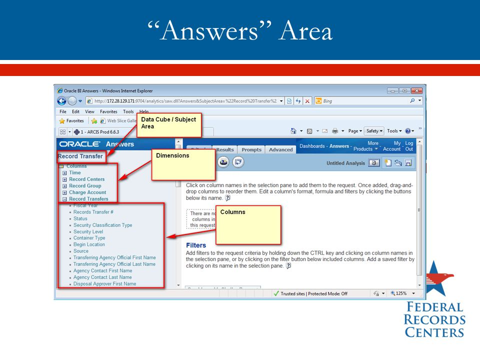 Answers Area