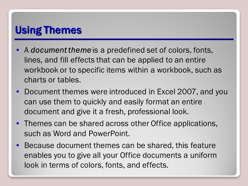 Using Themes