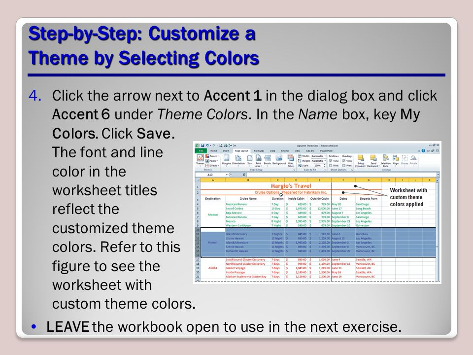 Step-by-Step: Customize a Theme by Selecting Colors