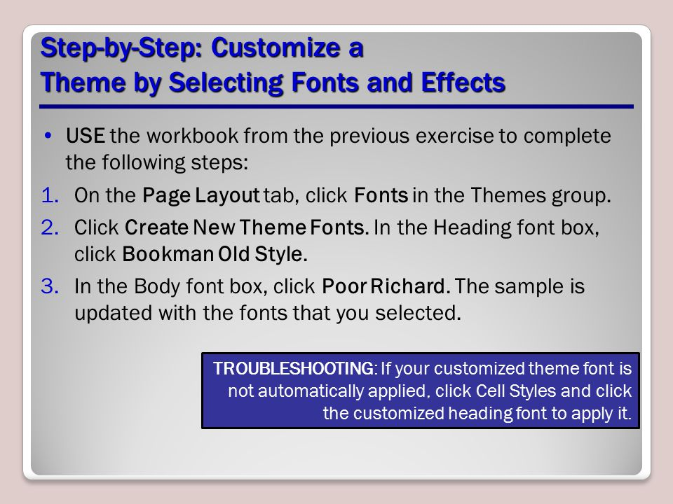 Step-by-Step: Customize a Theme by Selecting Fonts and Effects