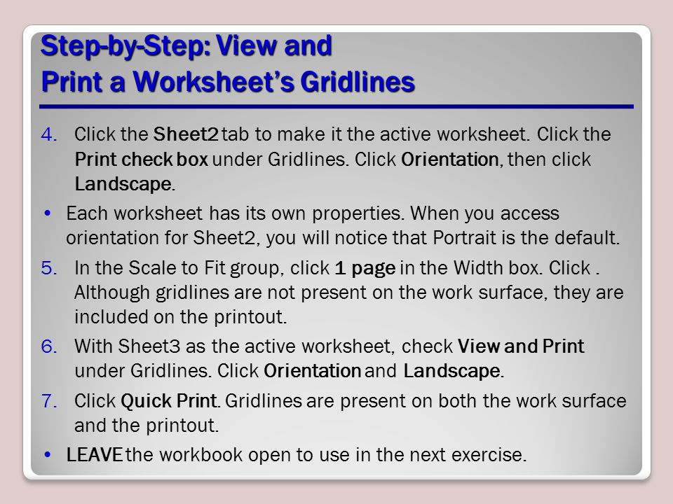 Step-by-Step: View and Print a Worksheet's Gridlines
