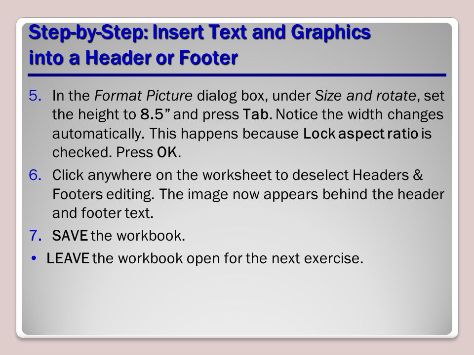 Step-by-Step: Insert Text and Graphics into a Header or Footer