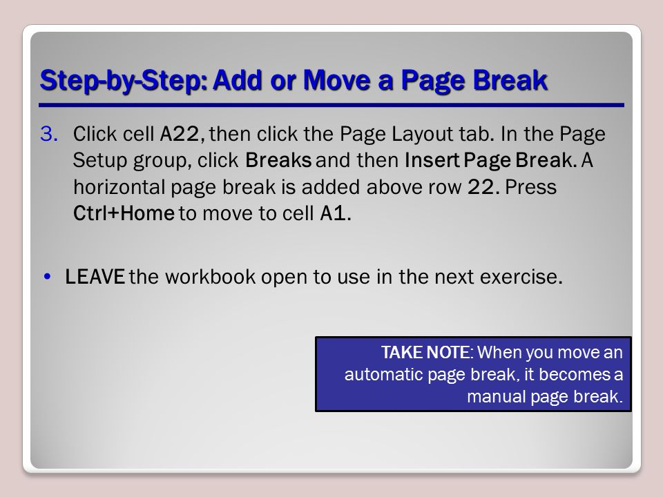 Step-by-Step: Add or Move a Page Break