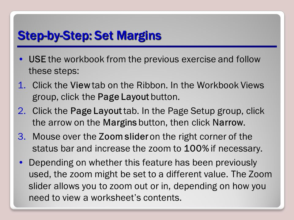 Step-by-Step: Set Margins