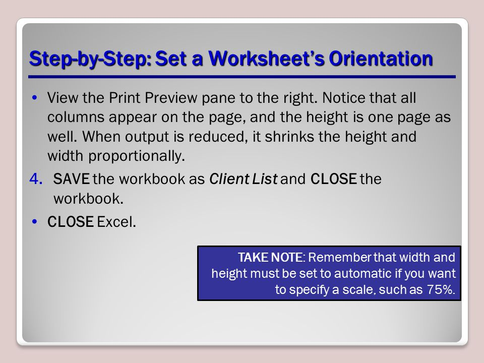 Step-by-Step: Set a Worksheet's Orientation