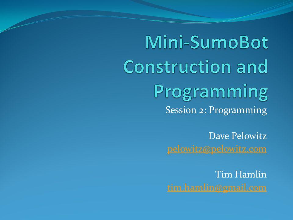 Mini-SumoBot Construction and Programming