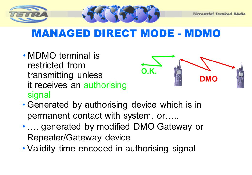 MANAGED DIRECT MODE - MDMO