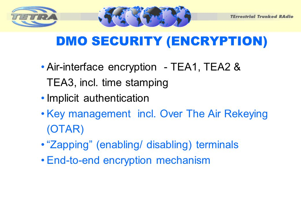 DMO SECURITY (ENCRYPTION)