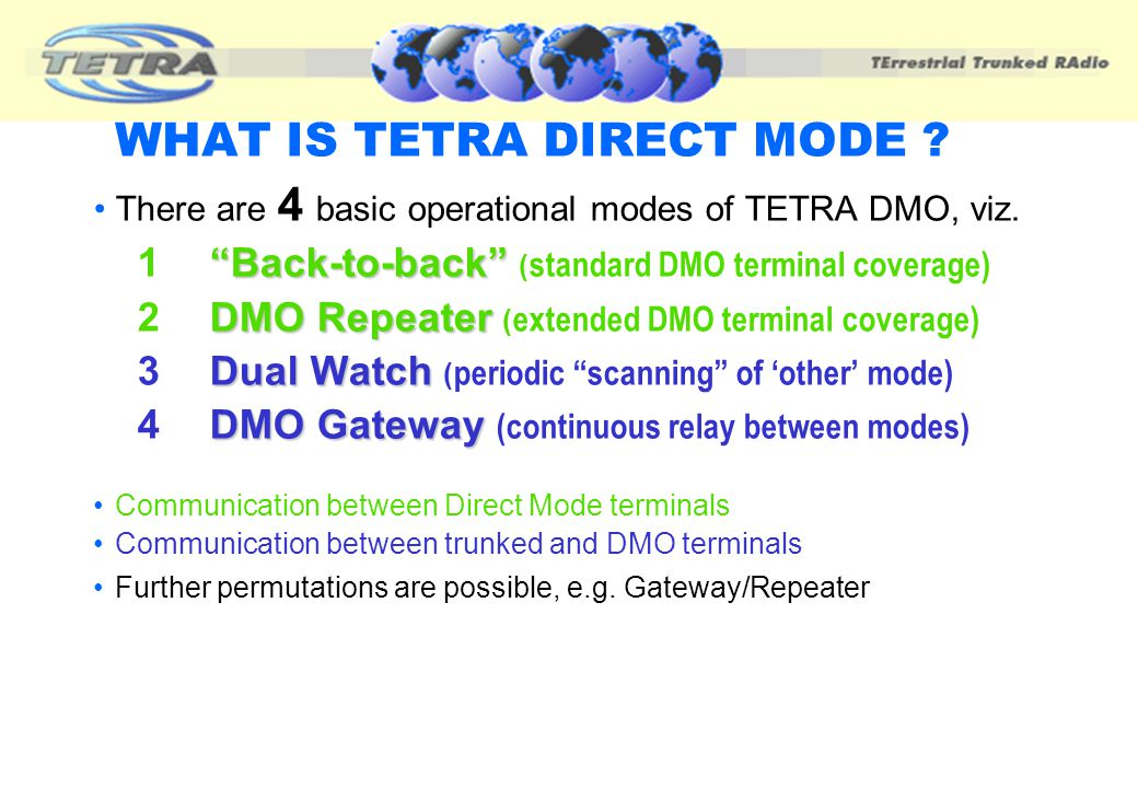 WHAT IS TETRA DIRECT MODE