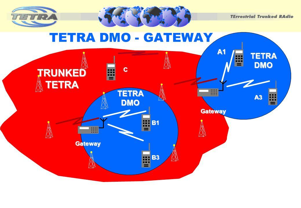 TETRA DMO - GATEWAY TRUNKED TETRA TETRA DMO TETRA DMO A1 C A3 Gateway