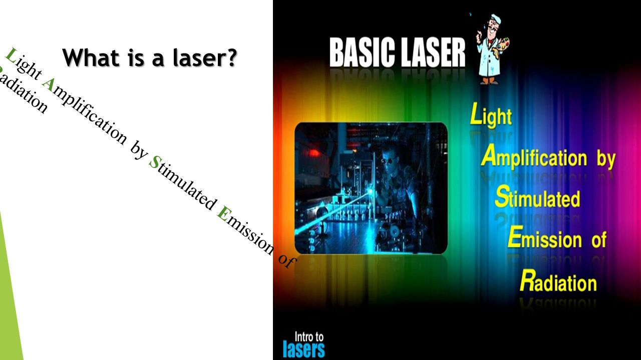 What is a laser Light Amplification by Stimulated Emission of Radiation