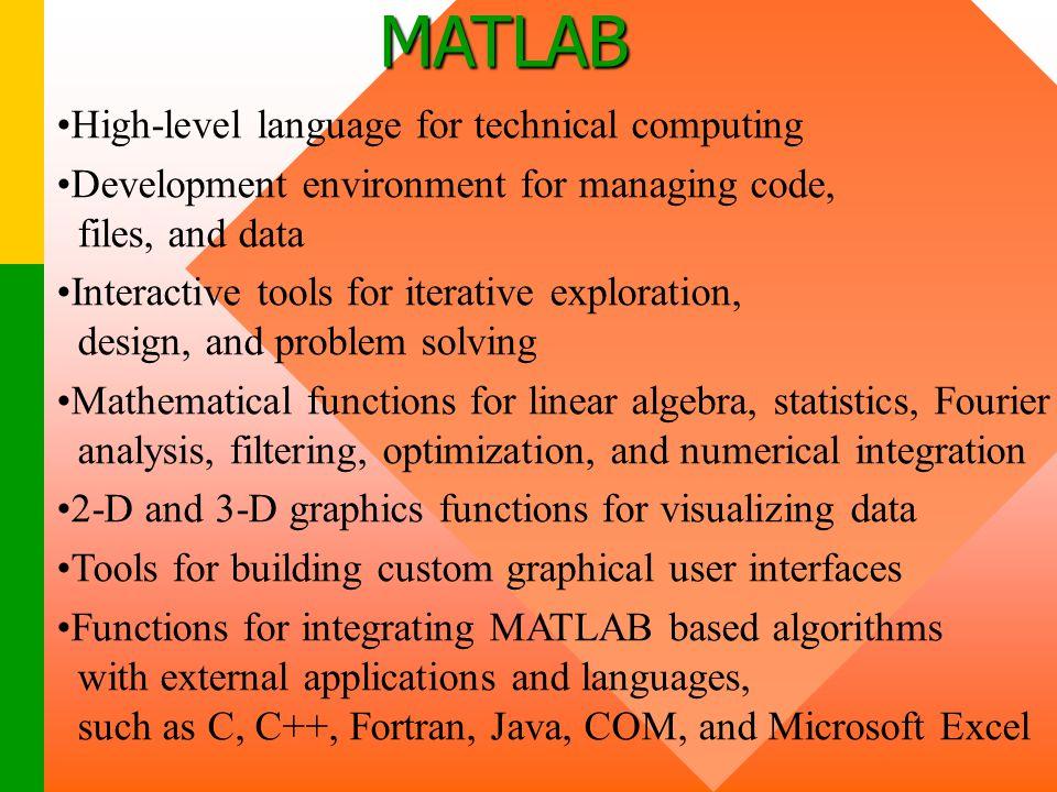 MATLAB High-level language for technical computing