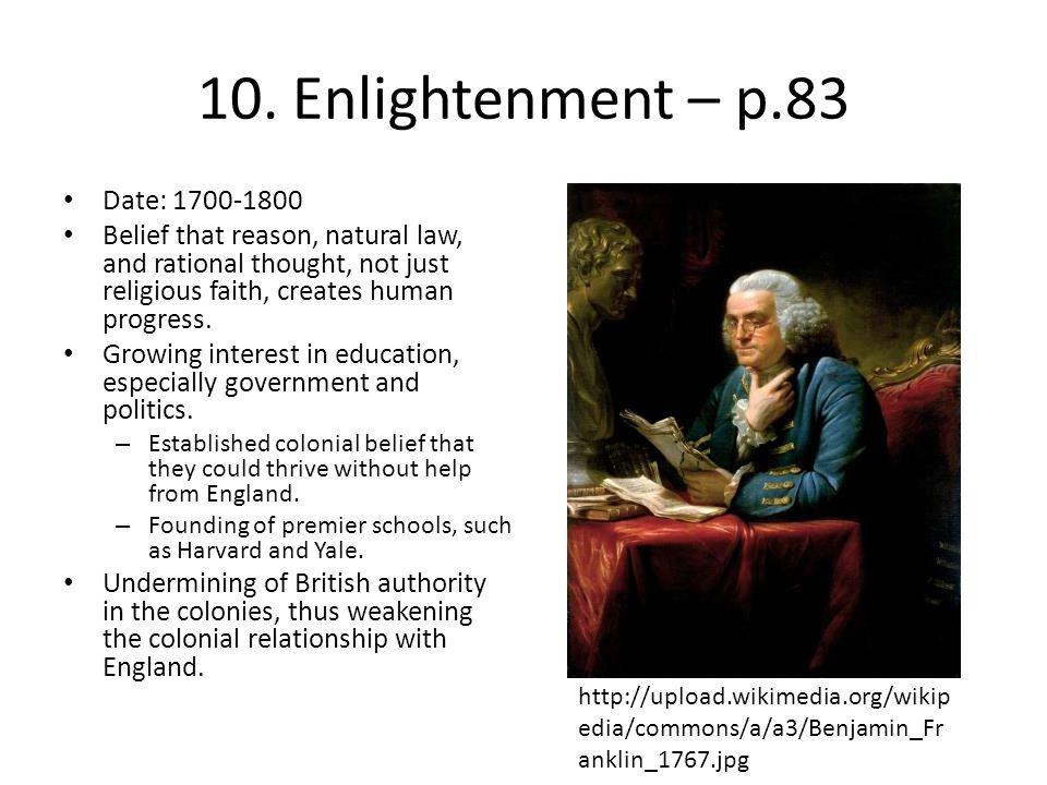 10. Enlightenment – p.83 Date: 1700-1800