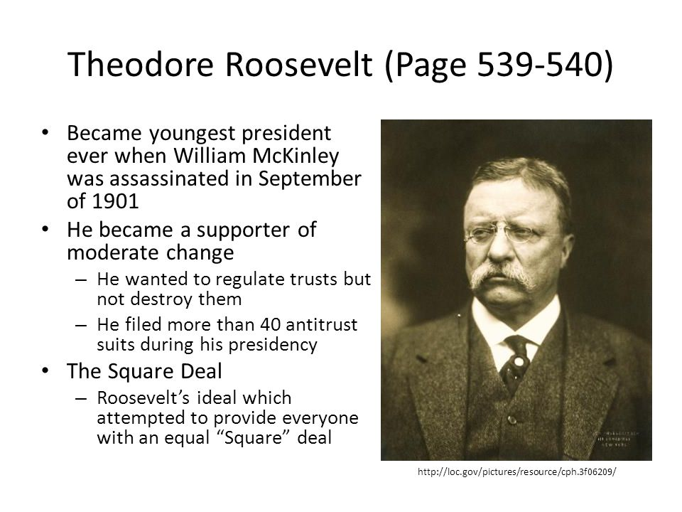 Theodore Roosevelt (Page 539-540)