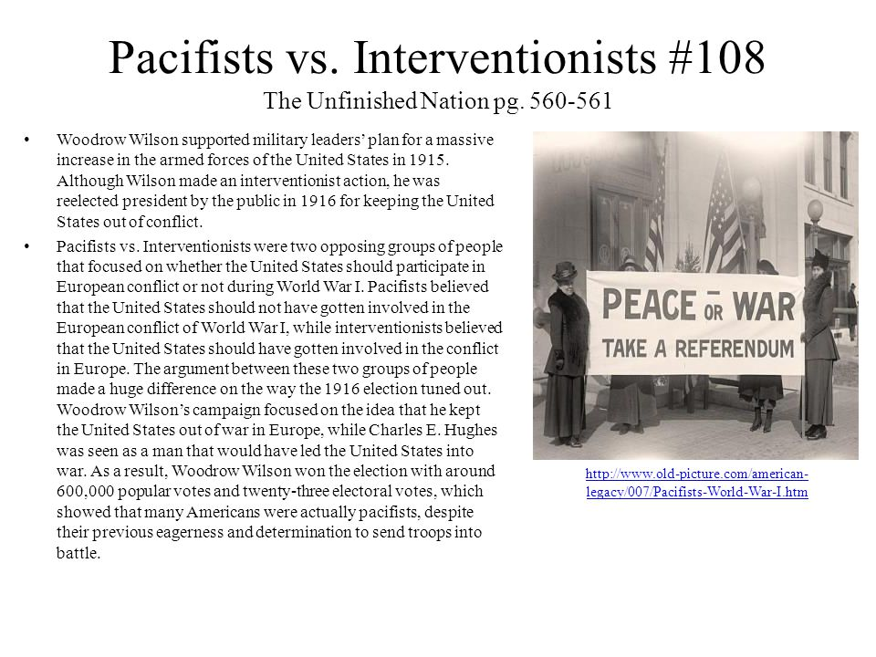Pacifists vs. Interventionists #108