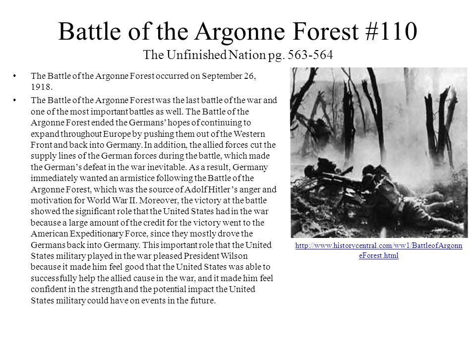 Battle of the Argonne Forest #110