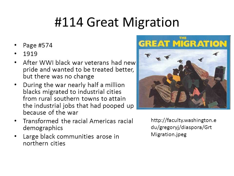#114 Great Migration Page #574 1919