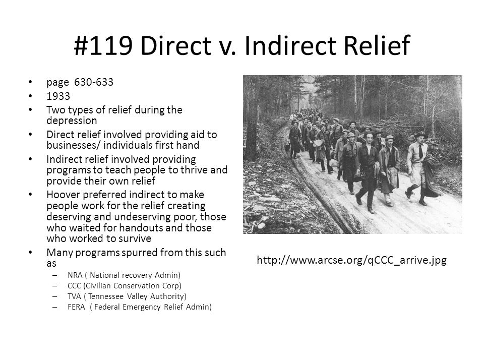 #119 Direct v. Indirect Relief